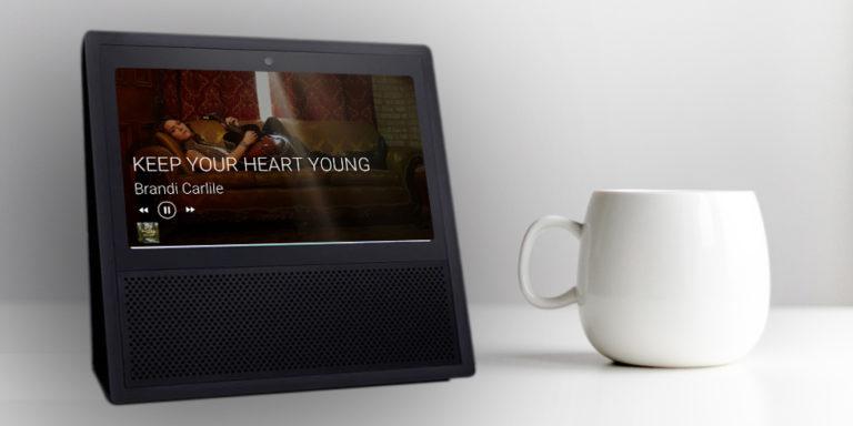 Echo Show music player screen